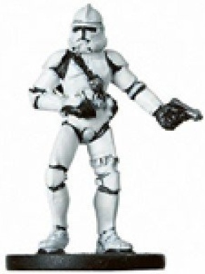 Star Wars Miniatures: Clone Trooper Gunner # 11 - Revenge of the Sith