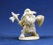 Dwarf Warrior - Dark Heaven Bones Miniature