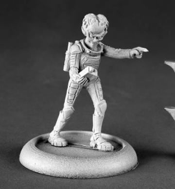 Alien Overlord with Tracker Chronoscope Minature Figures