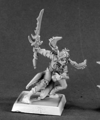 Vysa Darkspawn Elf Captain Warlord Minature Figures by Reaper Miniatures