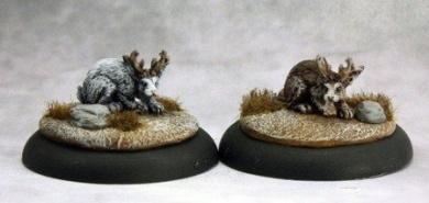 Jackalope (2) Savage Worlds Miniature