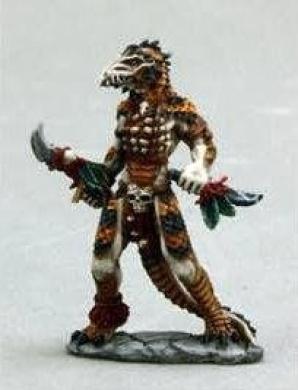 Lizardman Shaman Dark Heaven Legends Miniature