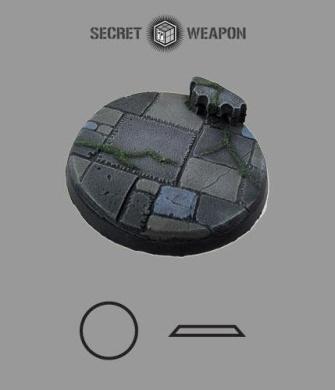 Secret Weapon- Scenic Bases: Bevelled Edge 60mm Flagstone Base 02 (1)