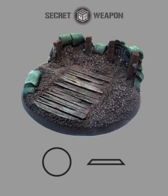 Secret Weapon- Scenic Bases: Bevelled Edge 60mm Trench Works 01 (1)