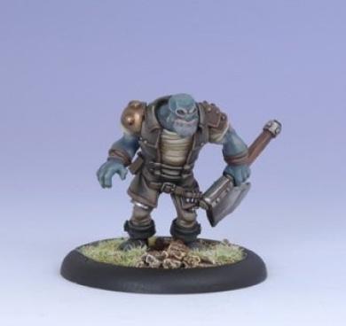 Iron Kingdoms Miniatures: Grindak Bloodbreath, Trollkin Adventurer