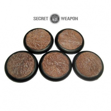 Secret Weapon - Scenic Bases: Round Lip 40mm Desert Mesa (5)