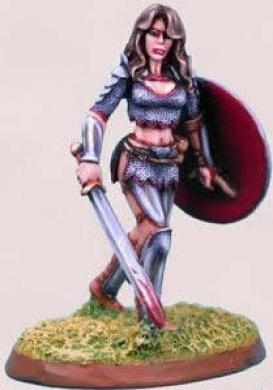 Chick In Chainmail 1 Elmore Masterwork Miniature