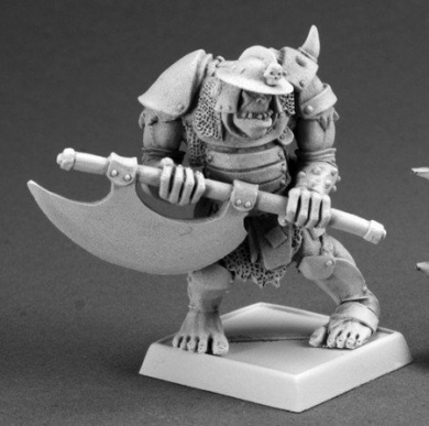 Gologh the Vicious, Orc Captain Reaper Warlord Miniature
