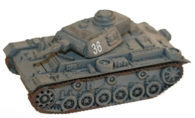 Axis and Allies Miniatures: Panzer III Ausf. F # 36 - Early War 1939-1941