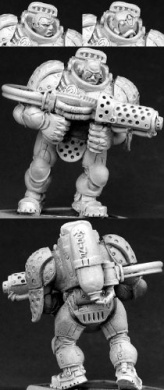 Blackstar Privateer with Flamethrower Chronoscope Miniature Figures by Reaper Miniatures