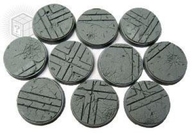Secret Weapon - Scenic Bases: Bevelled Edge 25mm Ruined Temple Bases (10)