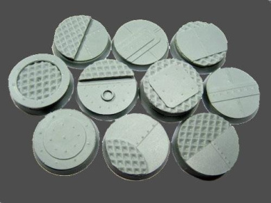 Secret Weapon - Scenic Bases: Bevelled Edge 25mm Iron Deck Bases (10)