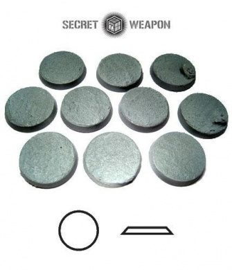 Secret Weapon - Scenic Bases: Bevelled Edge 25mm Desert Sands 02 (10)