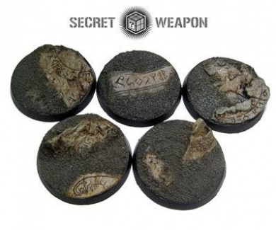 Secret Weapon - Scenic Bases: Bevelled Edge 40mm Runic Mountain (5)