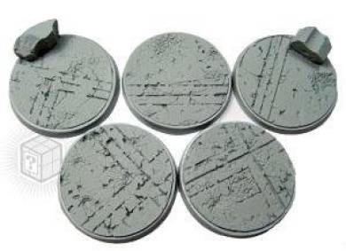 Secret Weapon - Scenic Bases: Bevelled Edge 40mm Ruined Temple Bases (5)