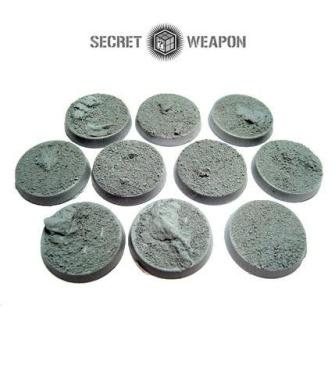 Secret Weapon - Scenic Bases: Bevelled Edge 25mm Desert Wasteland (10)