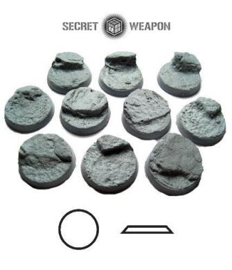 Secret Weapon - Scenic Bases: Bevelled Edge 25mm Desert Mesa 01 (10)