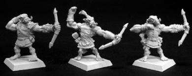 Bull Orc Archers (3) (Discontinued)