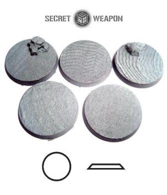 Secret Weapon - Scenic Bases: Bevelled Edge 40mm Desert Sands (5)