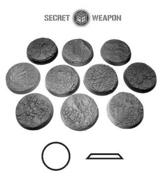 Secret Weapon - Scenic Bases: Bevelled Edge 25mm Desert Basin (10)