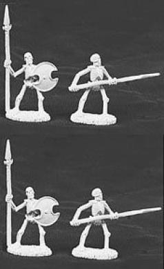 Skeletons, with spears (5) (OOP)
