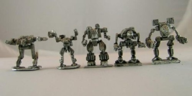 BattleTech Miniatures: BattleForce Scale Clan Star Pack 1 (5 mechs)