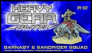 Heavy Gear Blitz: NuCoal - Barnaby and Sandrider Squad Pack