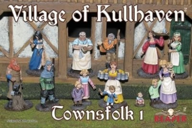 The Village of Kullhaven Townsfolk I Boxed Set Miniatures
