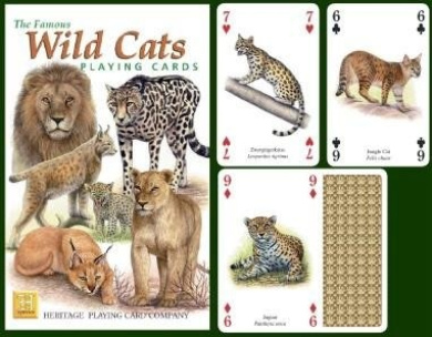 The Famous Wild Cats Playing Cards