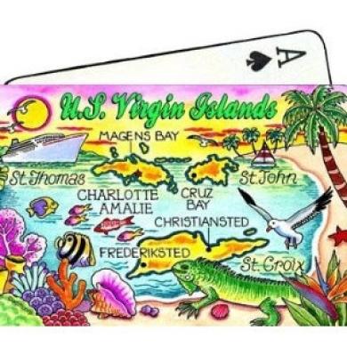 U.S.Virgin Islands Map Collectible Souvenir Playing Cards