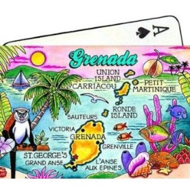 Grenada Map Collectible Souvenir Playing Cards