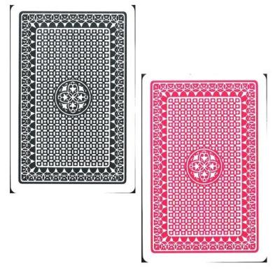 """Marion Pro """"Clover"""" 100% Plastic Cards - Jumbo Index - Bridge Size / Naipes para Bridge de Plastico"""