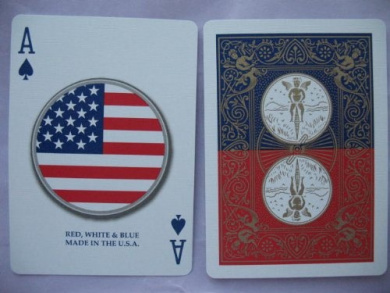 Bicycle Red, White and Blue Series 5 Circle Design Playing Cards