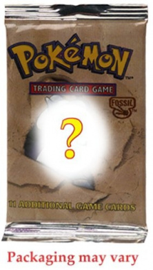 Pokemon Fossil American Trading Card Game Booster Pack