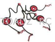 Red Body Clips Leash w/ Body Washer, BWP122AB02