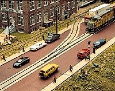 Walthers Cornerstone Series Kit HO Scale Brick Street System Straight Sections
