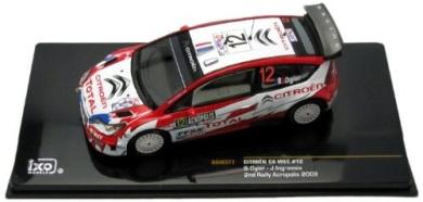 Citroen C4 WRC - 2nd Acropolis Rally 2009 - #12 S. Ogier 1:43 Scale Diecast Model
