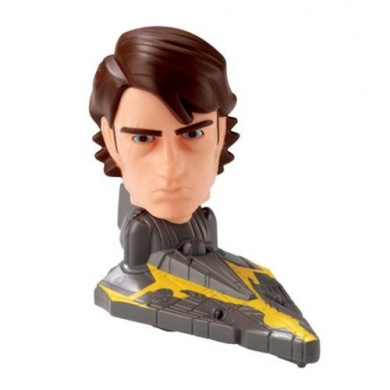 2008 McDonalds Happy Meal Toy Star Wars : The Clone Wars #1 Anakin Skywalker Bobblehead - Fast Food Collectible Action Figure
