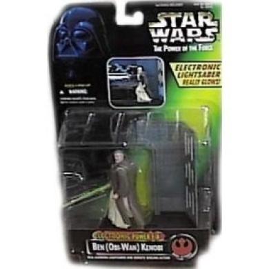 Star Wars Power of the Force Electronic Power F/X Ben Kenobi Action Figure