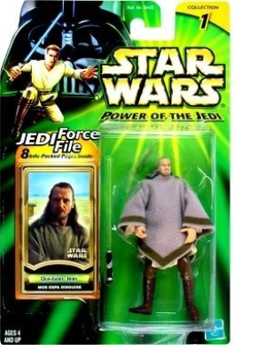 Star Wars (Power Of The Jedi) Action Figure - Qui-Gon Jinn (Mos Espa Disguise)