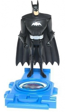"""Justice League 4 3/4"""" Action Figure: Batman in Black with Silver Outfit"""