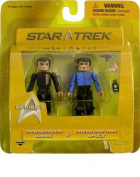 Star Trek Diamond Select Toys Series 3 Minimates Ambassador Sarek & Dress Uniform Spock