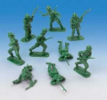 144 CLASSIC TOY SOLDIERS - ONE SINGLE SEALED BAG of Assorted Green Combat Pos...