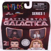 Battlestar Galactica Minimates 2-Pack Apollo and D'Anna Exclusive