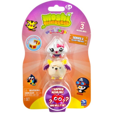 Moshi Monsters Moshlings Series 2 Mini Figure 3Pack Includes 1 Virtual Prize Code!