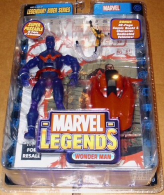 2005 - Toy Biz - Marvel Legends - Legendary Rider Series - Wonder Man Action Figure - Bonus: 32 Page Avengers Comic & Vehicle - Exclusive Trading Card - Out of Production - Limited Edition - Collectible