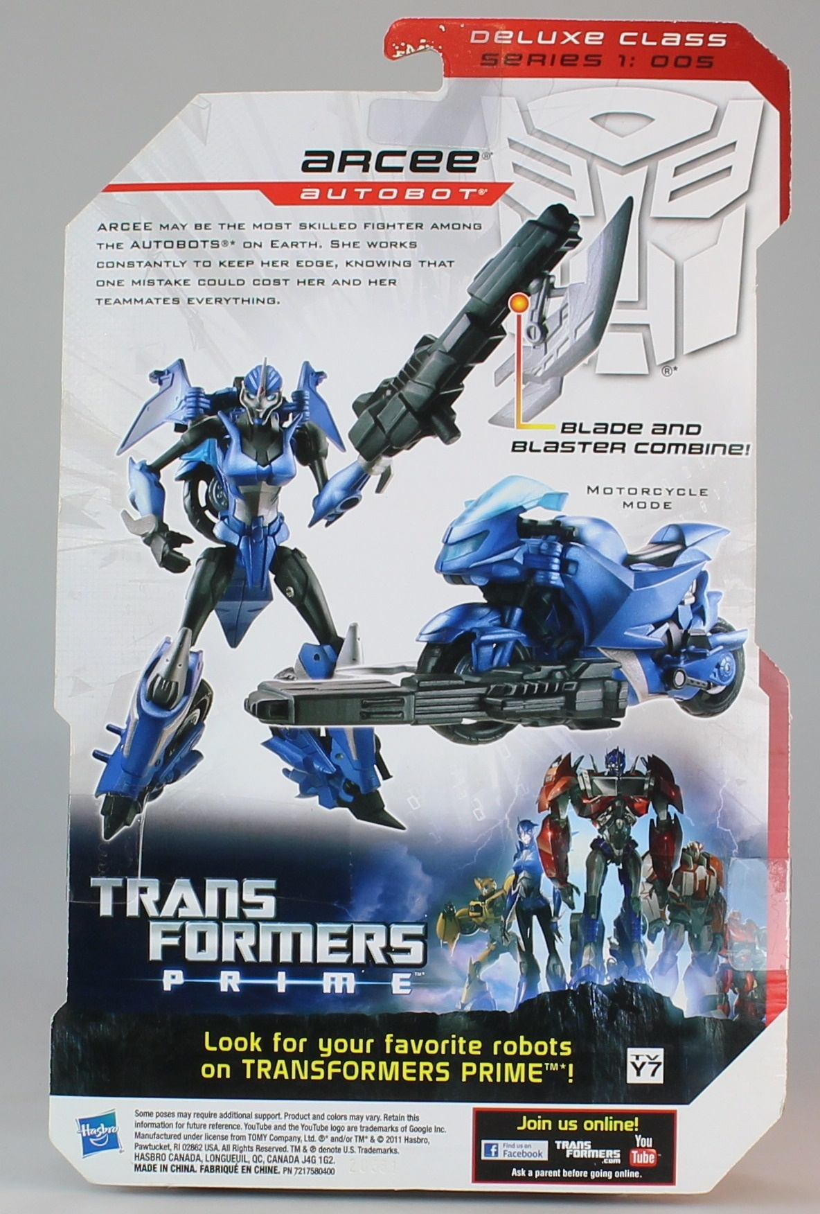Transformers Prime Robots in Disguise Deluxe Class Series 1 Action Figure -  Arcee