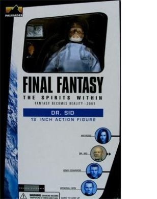 Final Fantasy The Spirits Within Dr. Sid 30cm Action Figure