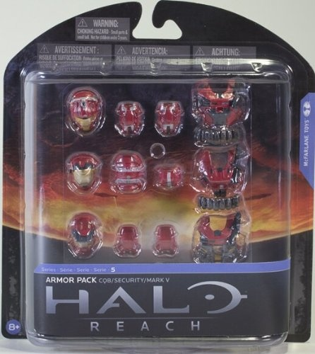 Halo Reach McFarlane Toys Series 5 Exclusive RED Armour Pack CQB, Security,  Mark V