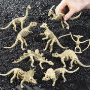 12 Plastic Dinosaur Skeletons